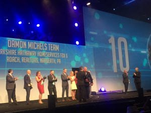 The Damon Michels Team Ranked #10 In The Nation By Berkshire Hathaway HomeServices In 2017!