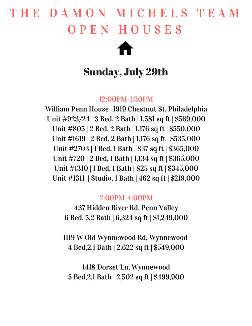 Stop by the Damon Michels Team open houses today!