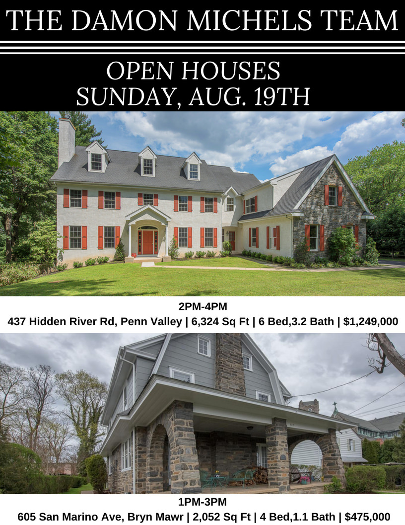 Sunday, August 19th Open Houses