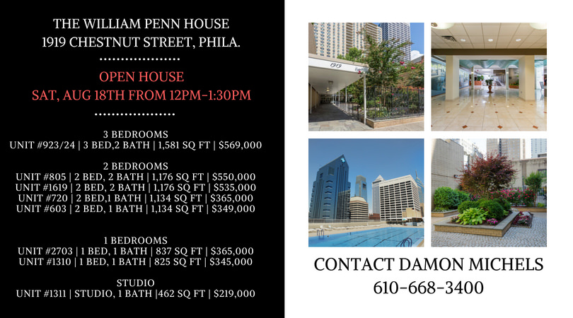 Saturday, Aug. 18th Open Houses