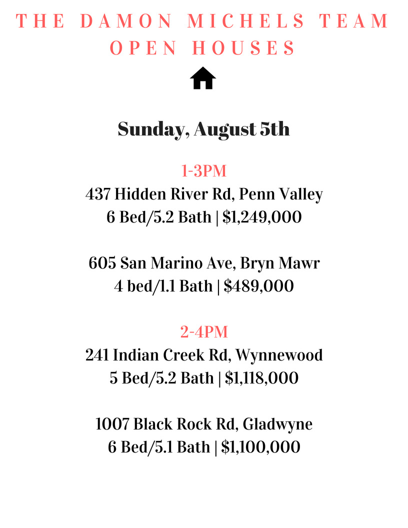 Stop by the Damon Michels Team open houses today, Sunday, August 5th!