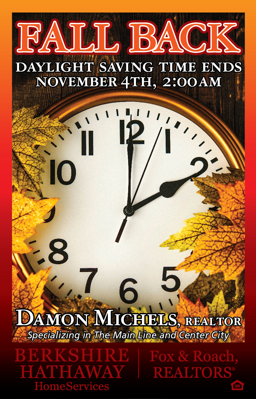 Don't forget daylight saving time ends Nov 4th at 2am!